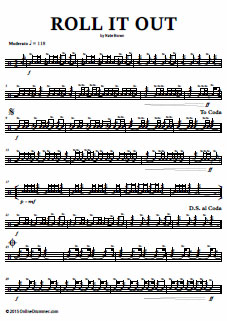 Roll It Out – Snare Drum Solo