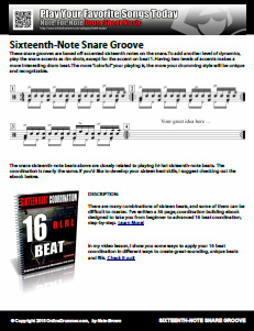 Sixteenth-Note Snare Groove - PDF