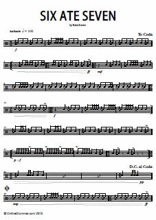 Six Ate Seven – Snare Drum Solo