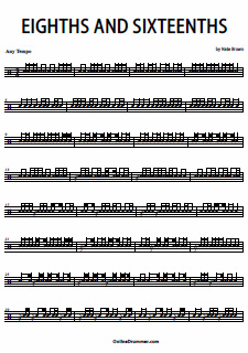 Eighths And Sixteenths – Snare Solo