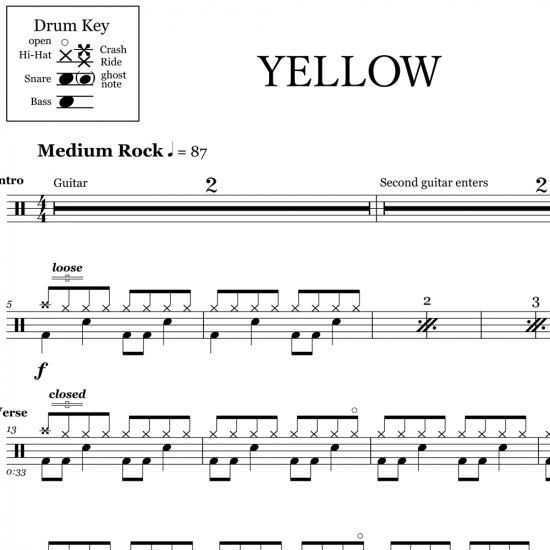 Yellow – Coldplay
