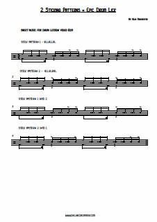 2 Sticking Patterns - 1 Epic Drum Lick PDF