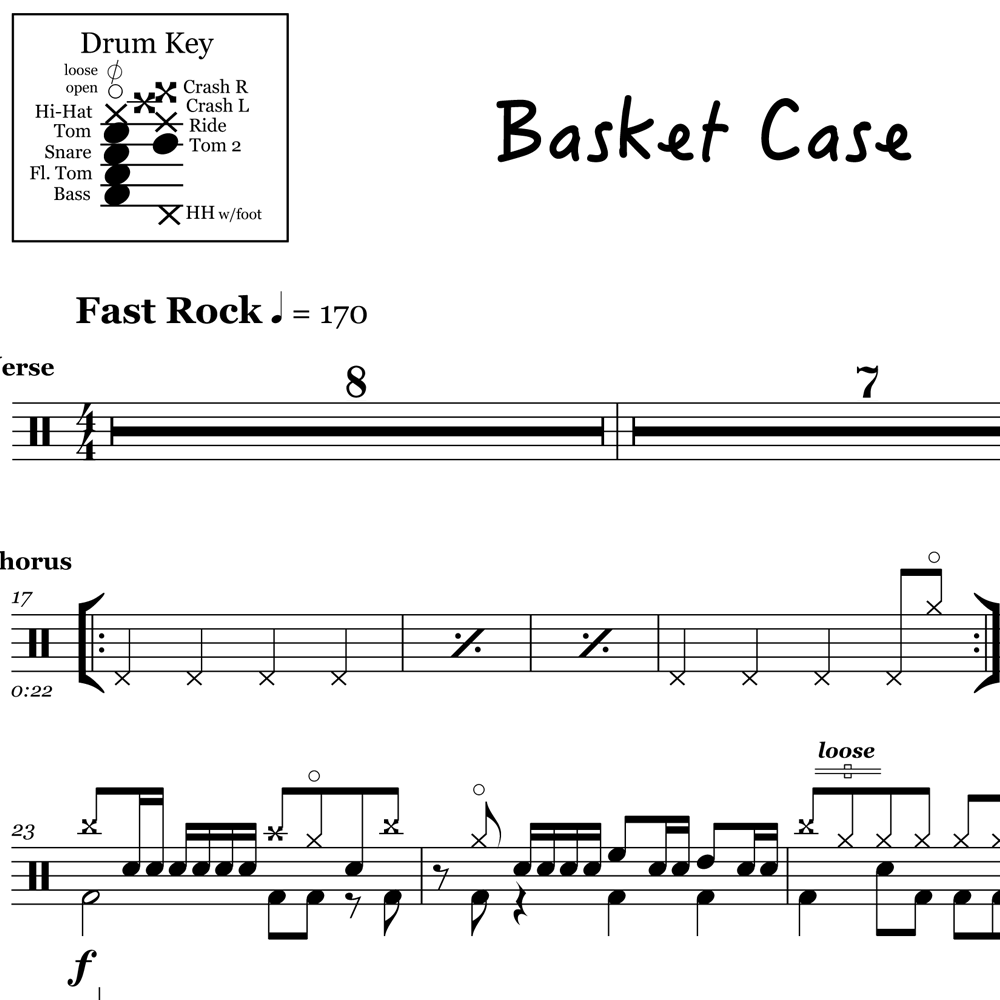 Basket Case Drum Fill + Bonus Fill