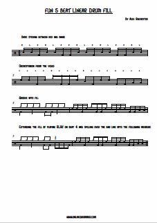 Fun 5 Beat Linear Drum Fill - PDF