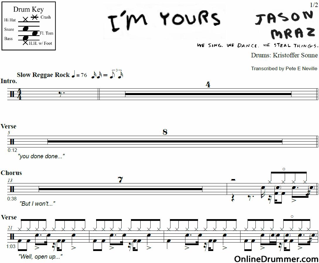 in the air tonight drum sheet music pdf