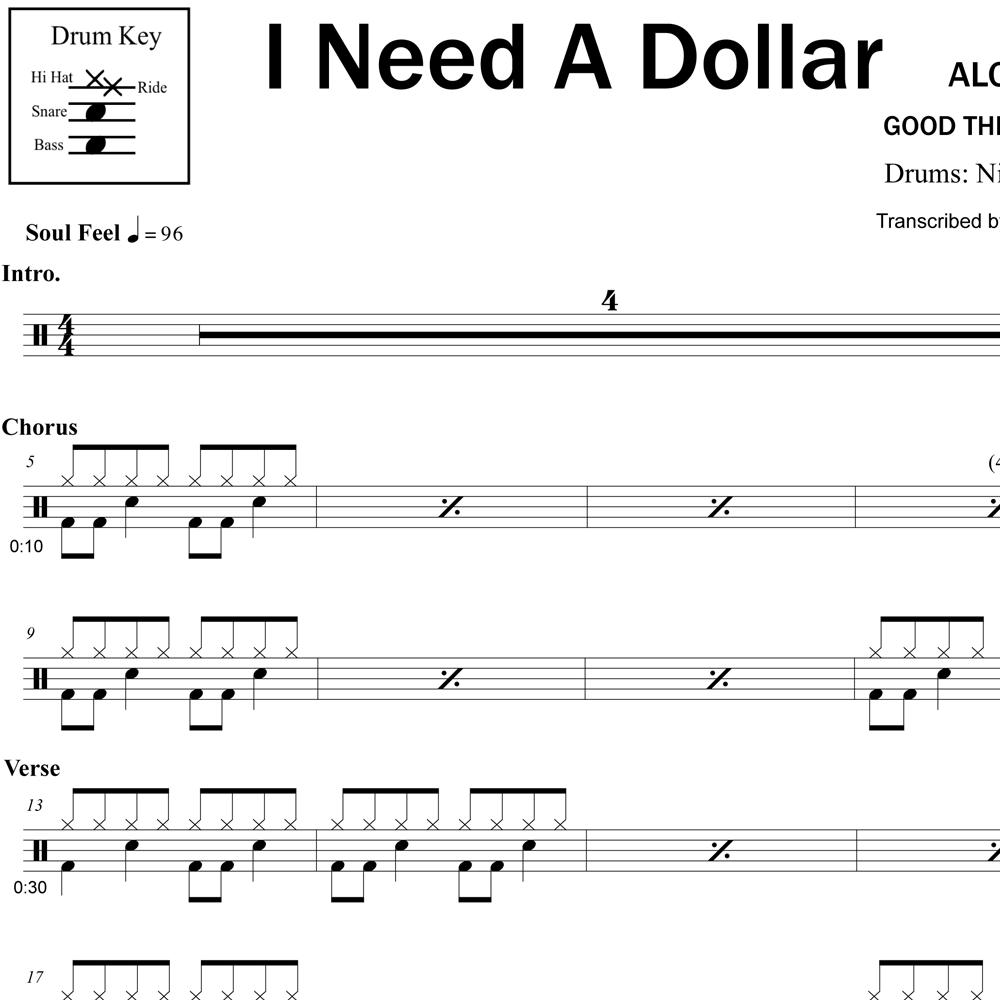 Hi-Hat Technique - I Need a Dollar