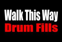 how to play walk this way on drums