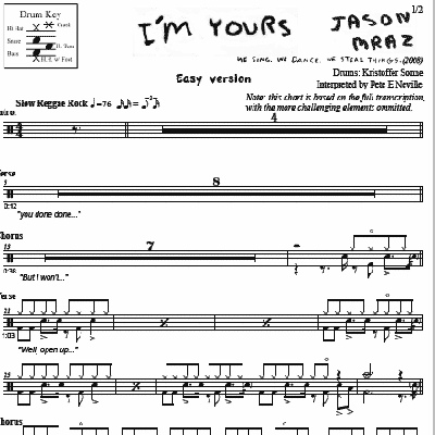 I'm Yours - Jason Mraz - Simplified Version