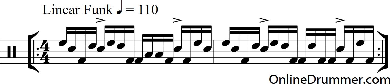 Linear Funk Drum Beat