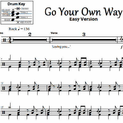 Go Your Own Way - Fleetwood Mac - Simplified Version