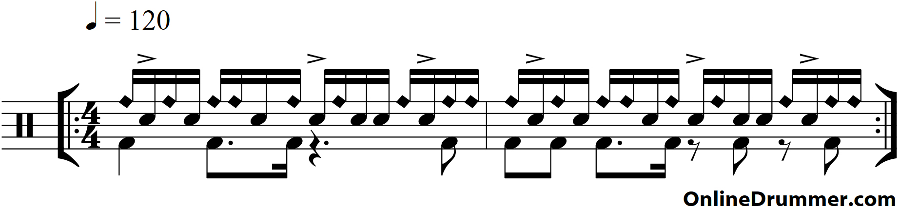 Blended Paradiddle Groove
