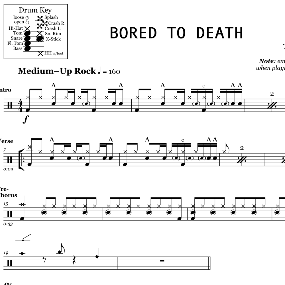 Bored To Death - Intro Groove