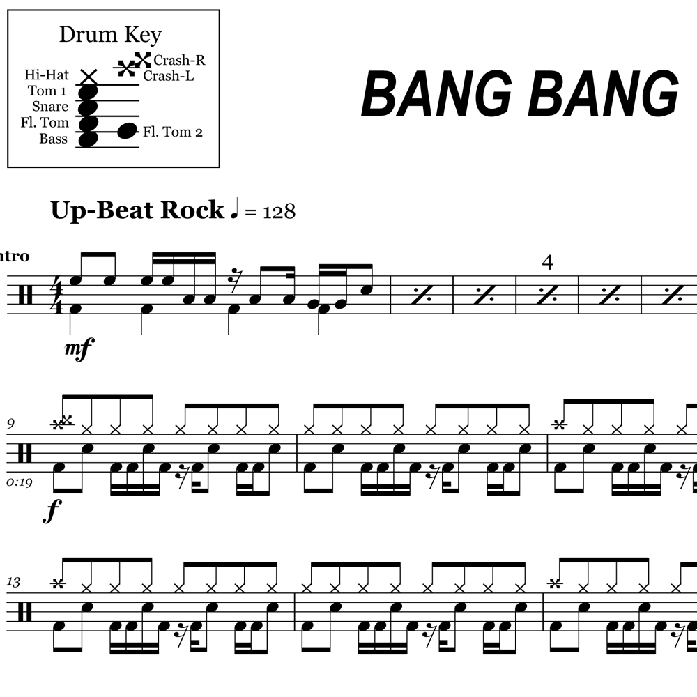 Bang Bang - Drum Intro - Tom Groove Anyone?