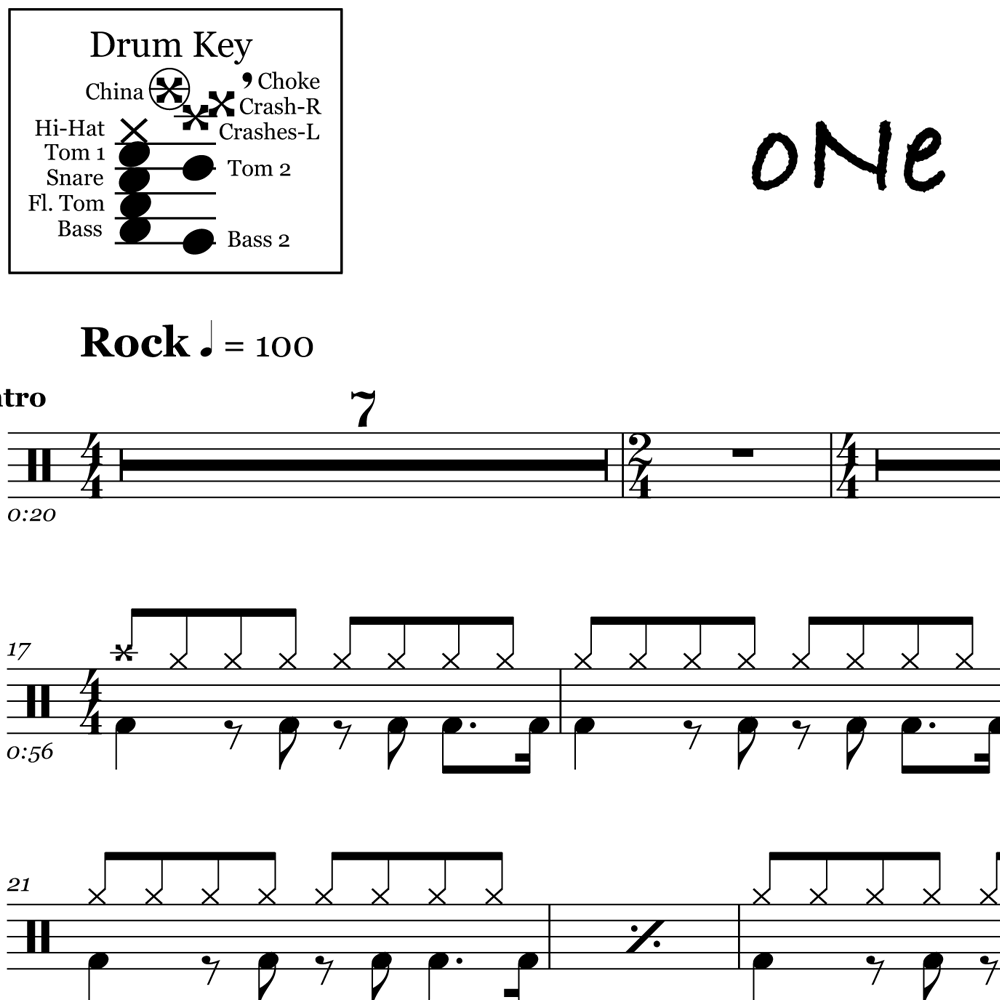 One – Metallica – Beats