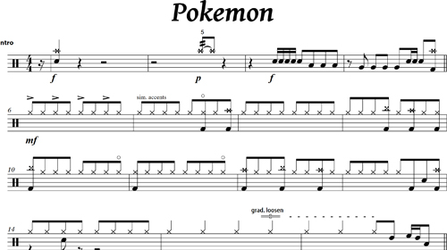 Pokemon - Drum Intro