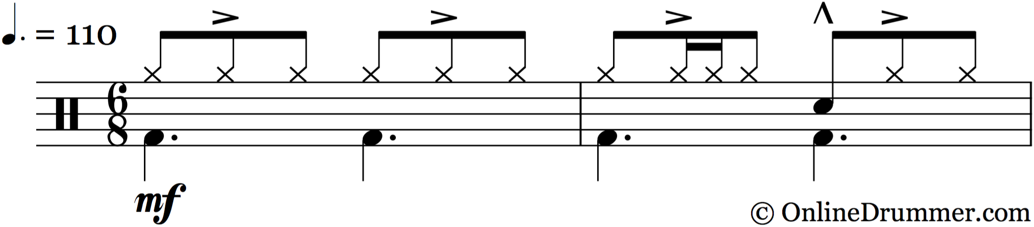 Accenting the Middle Note in Compound Meter