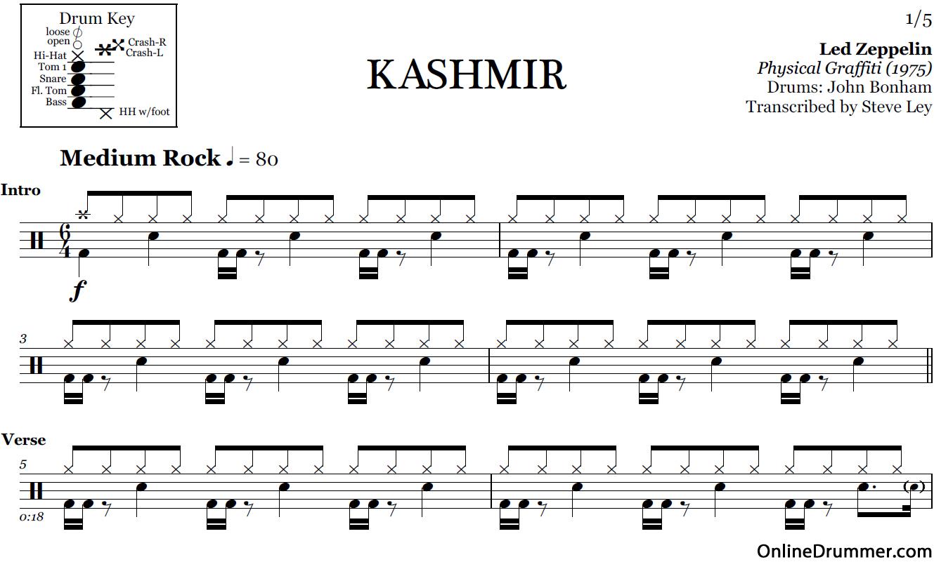 kashmir-drum-sheet-music