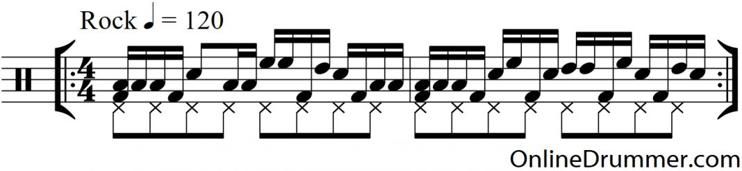 Syncopated Melodic Tom Groove