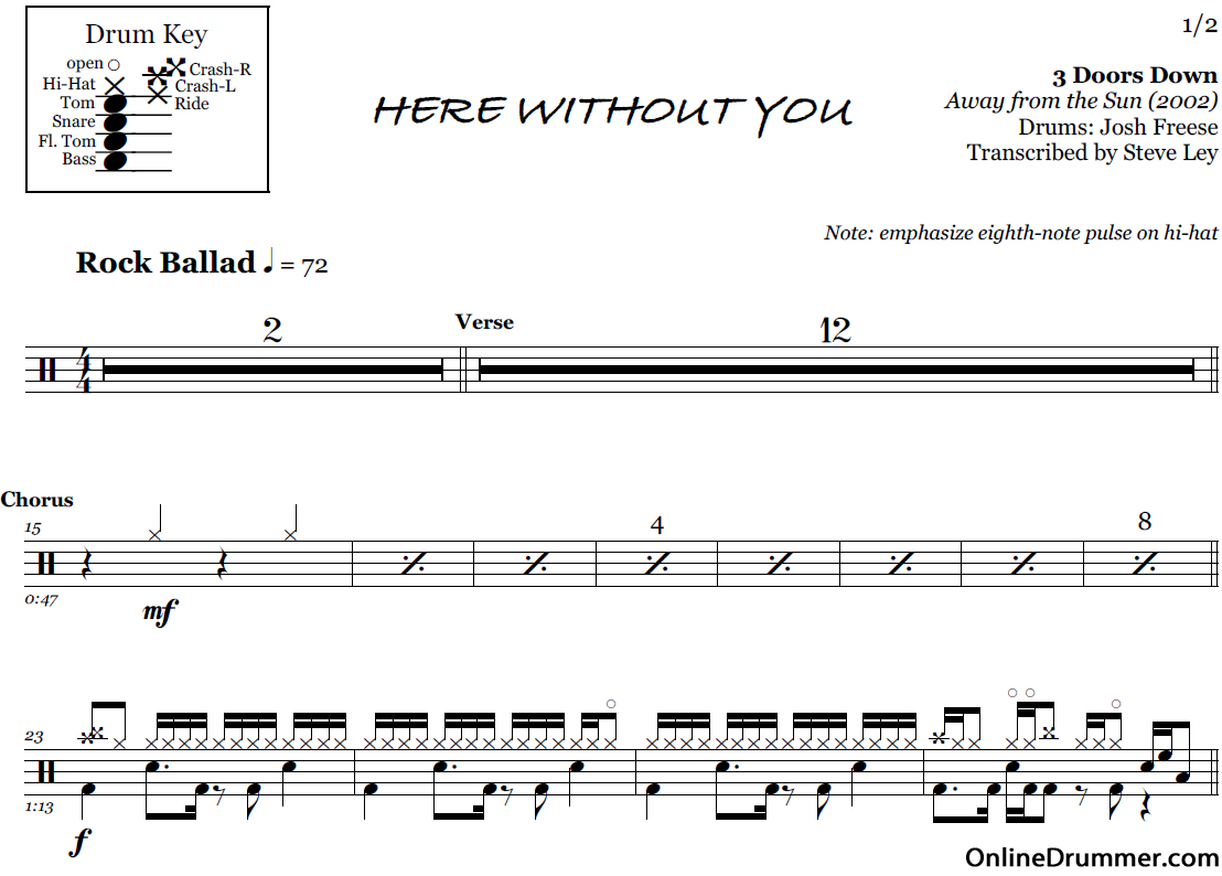 here-without-you_drum-sheet-music