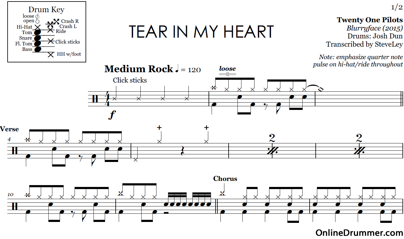 tear-in-my-heart-sheet-music