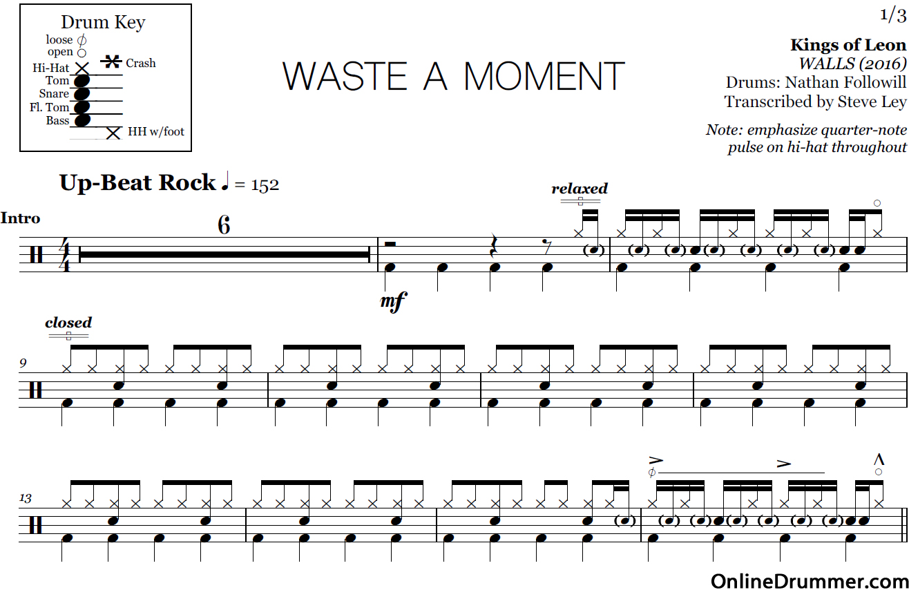 waste-of-a-moment-drum-sheet-music
