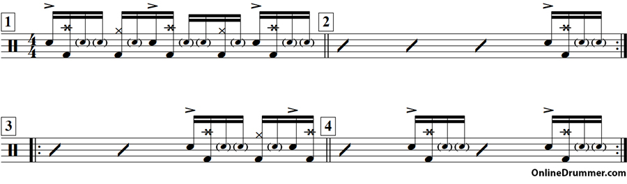 Syncopated 'E' Drum Fills