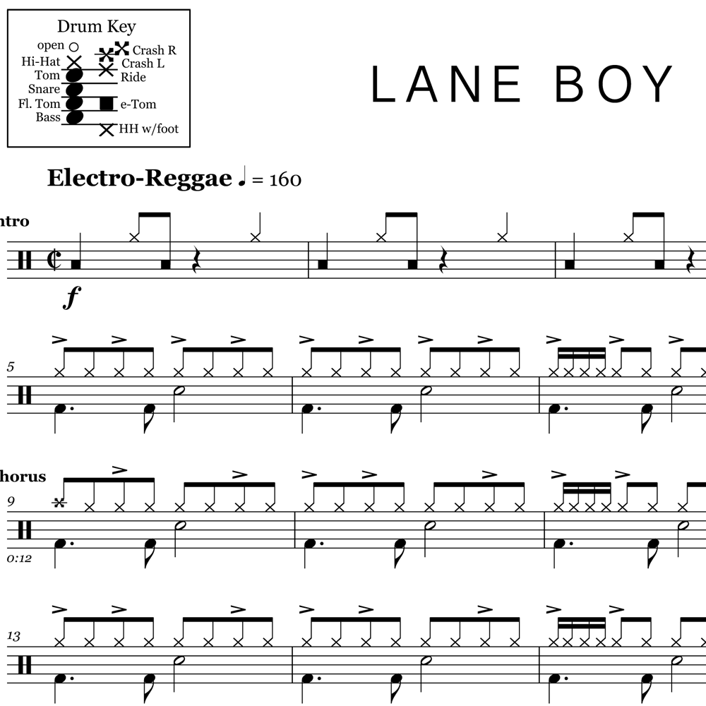 Lane Boy's Reggae Rock Fusion Beat