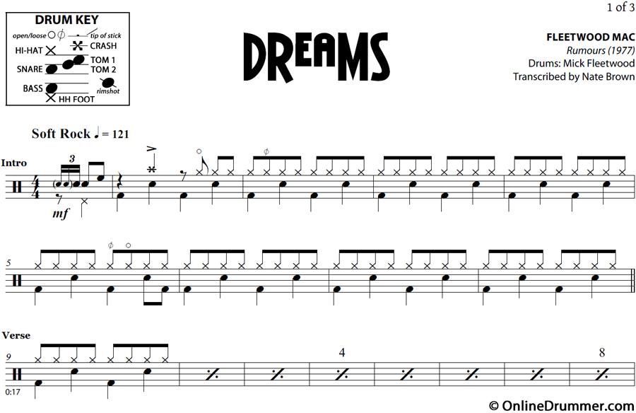Dreams Fleetwood Mac Sheet Music Heartpulsar