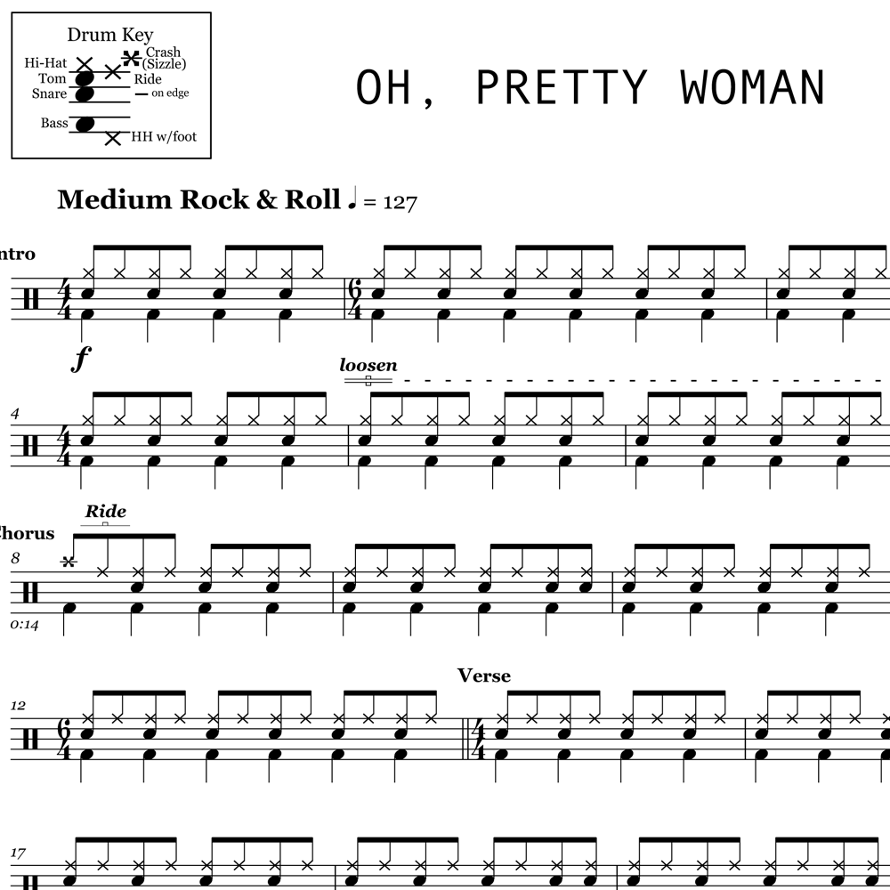 A Drummer's Look at Pretty Woman by Roy Orbison