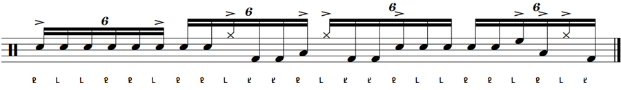 Another Sweet Sextuplet Drum Fill