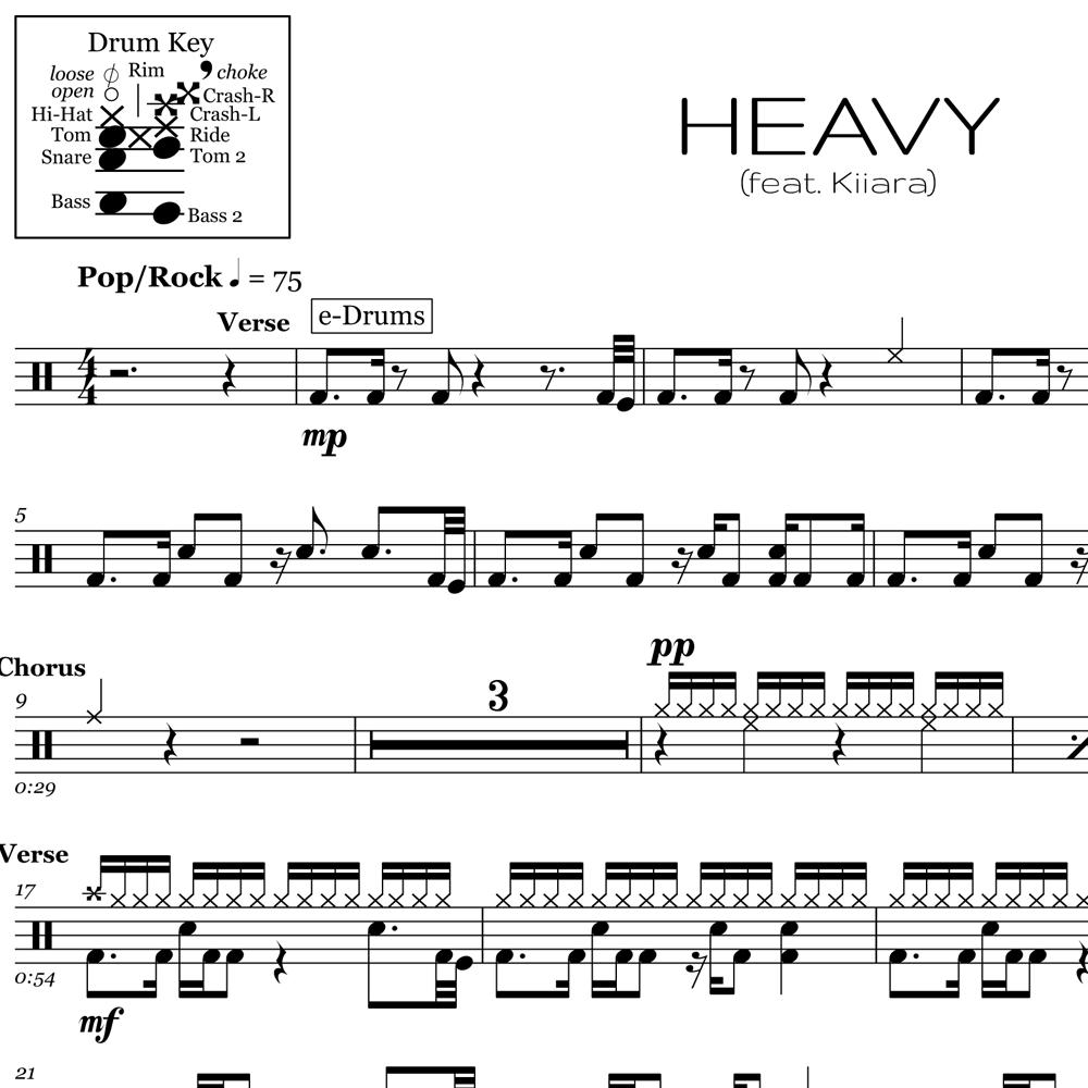 Learn The Chorus Beat for Heavy by Linkin Park