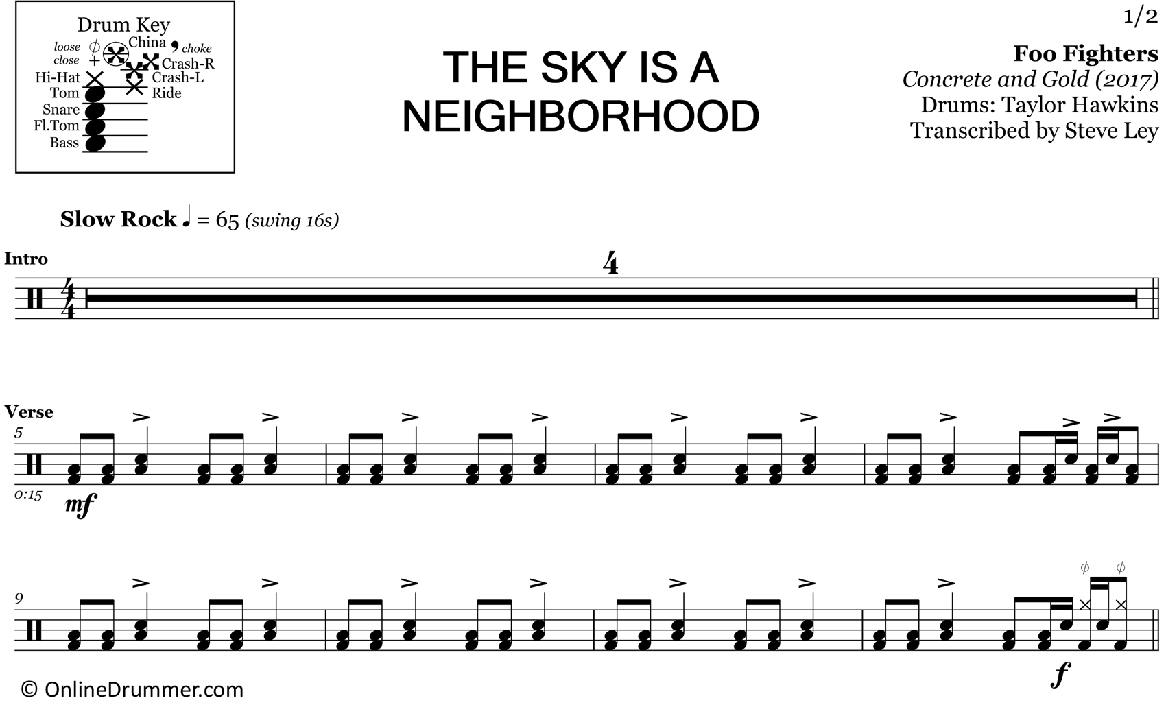 The Sky is a Neighborhood - Foo Fighters - Drum Sheet Music