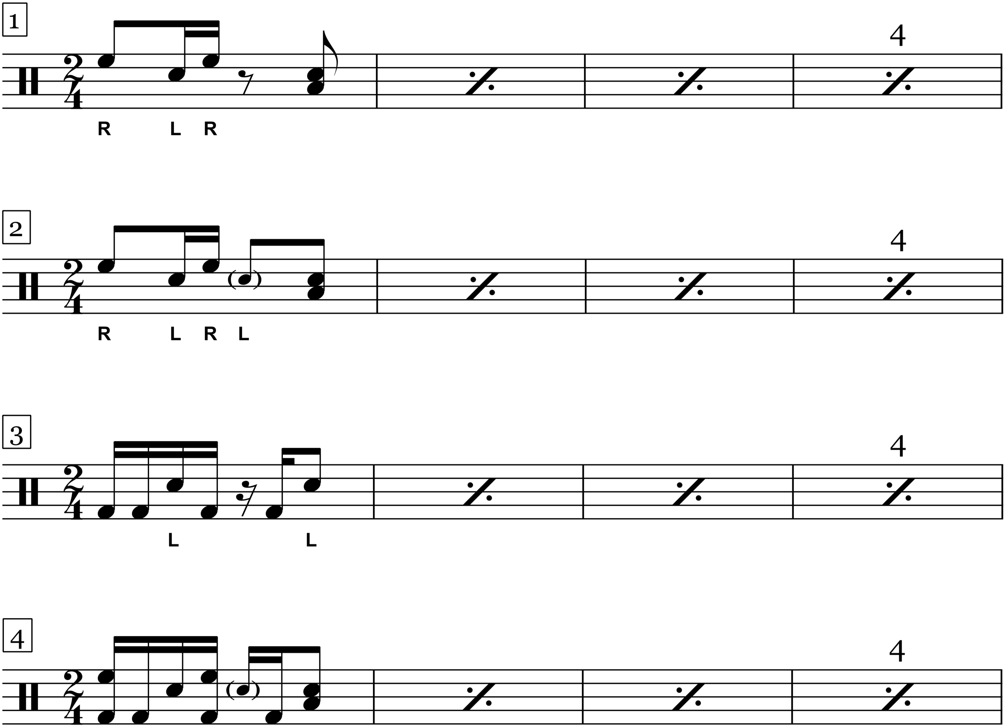 Should I Stay Or Should I Go - The Clash - Drum Sheet Music