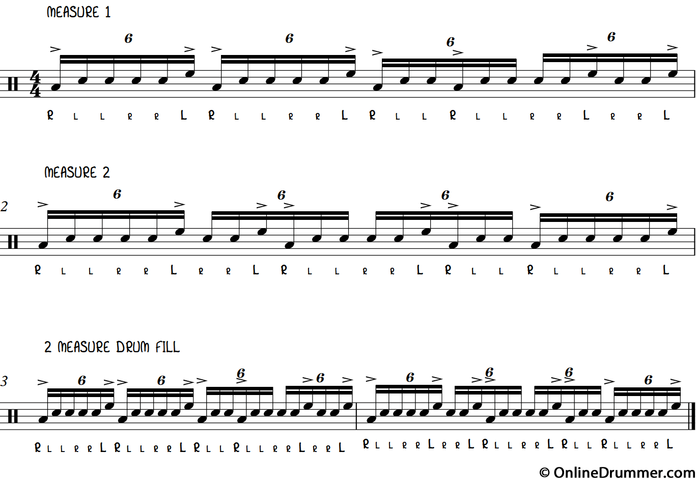 Cool Two-Bar Drum Break - Sextuplets