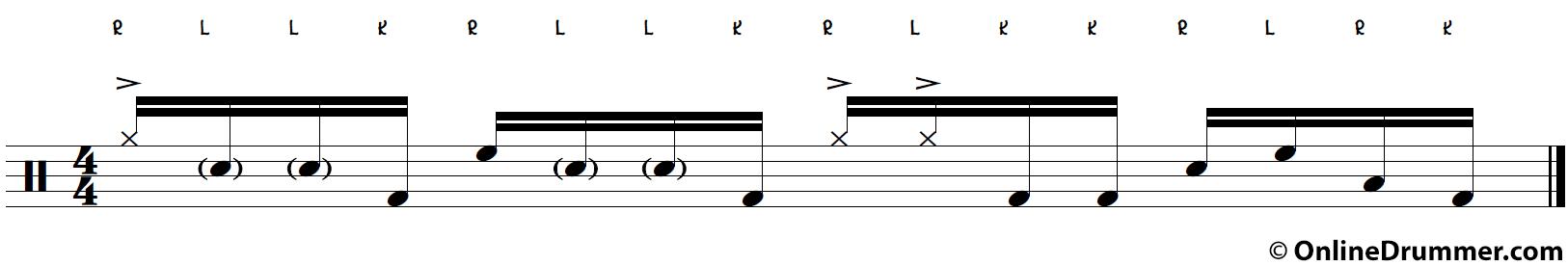 Intermediate to Advanced Drum Lick