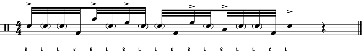 A Short But Sweet 32nd Note Drum Fill