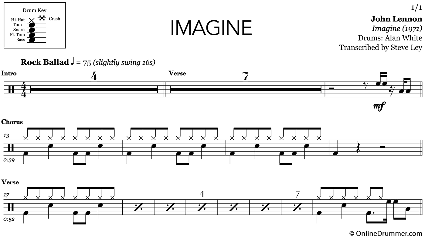 how to play imagine by john lennon