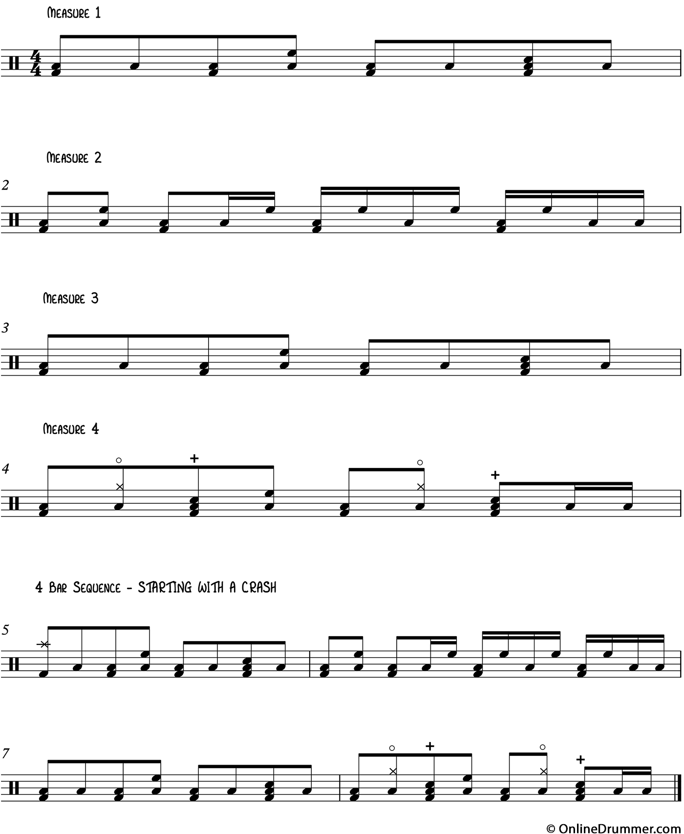 Cool Intermediate Drum Beats on the Toms