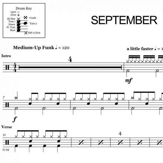 September - Earth, Wind & Fire - Drum Sheet Music
