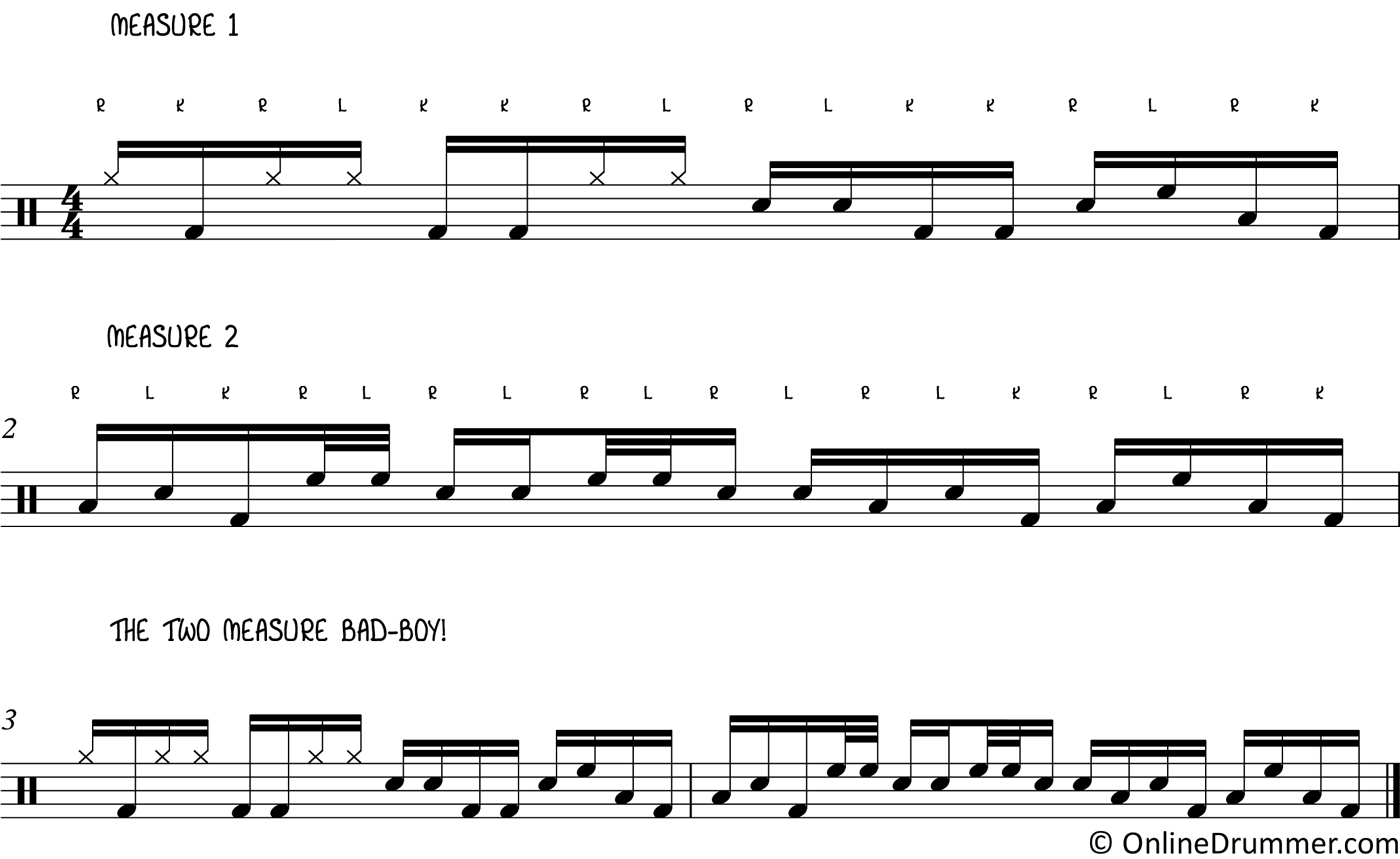 Slick, Two-Bar Drum Lick