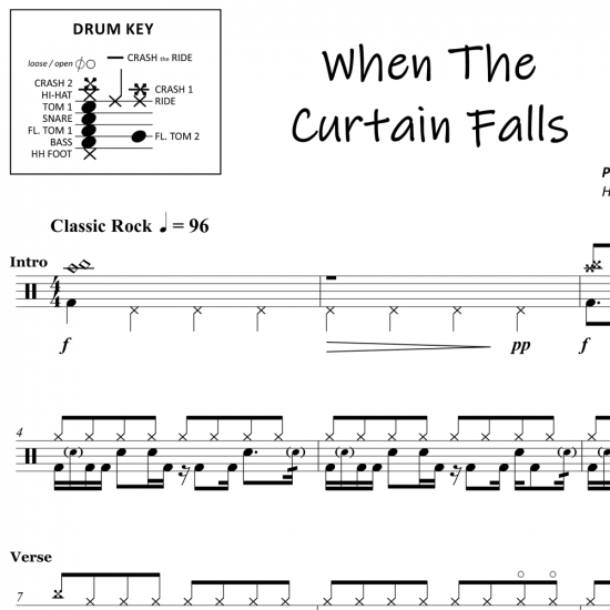 When The Curtain Falls - Greta Van Fleet - Drum Sheet Music