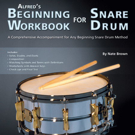 Alfred's Beginning Workbook for Snare Drum - Front Cover