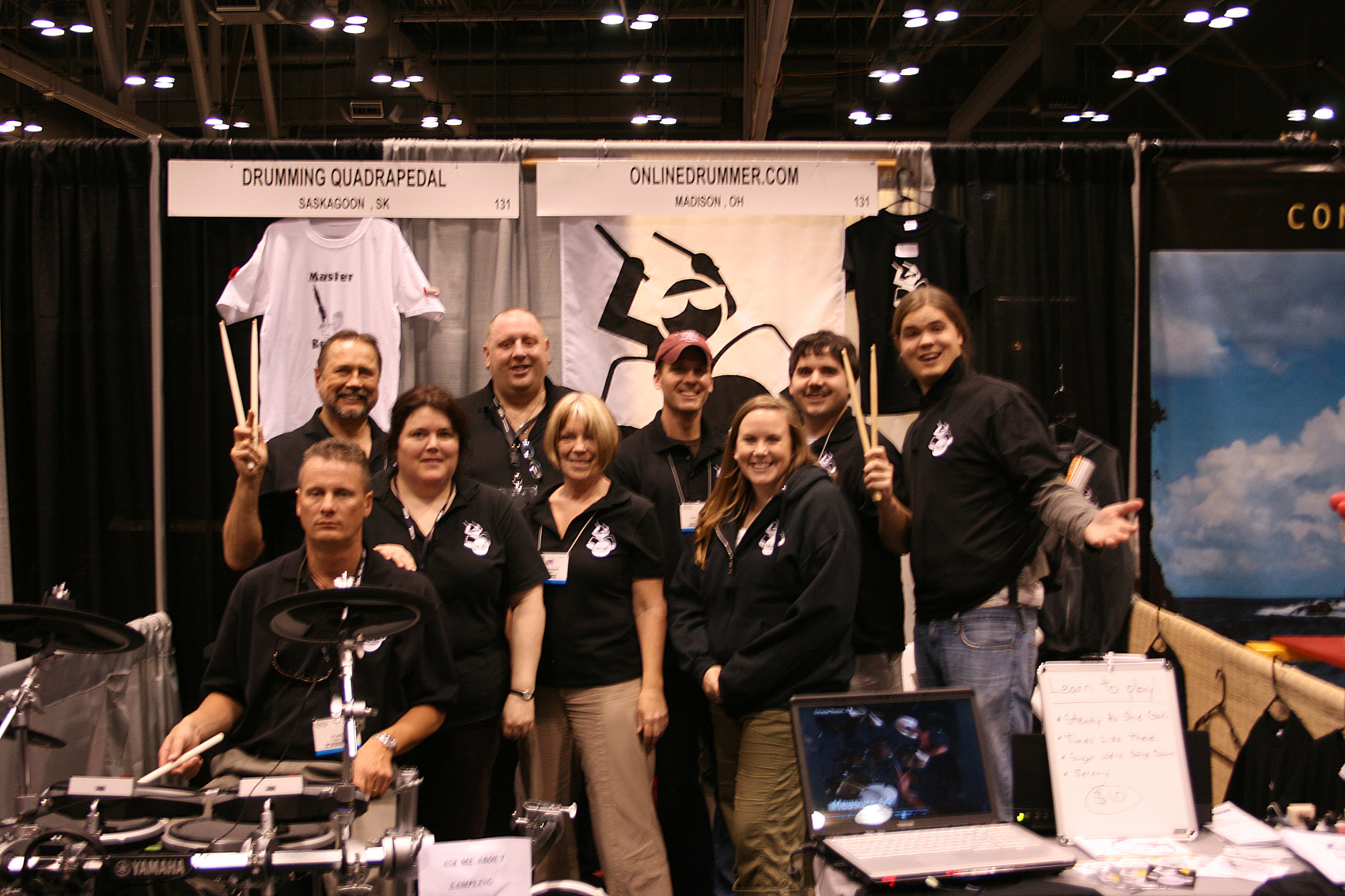 OnlineDrummer Team Photo - PASIC