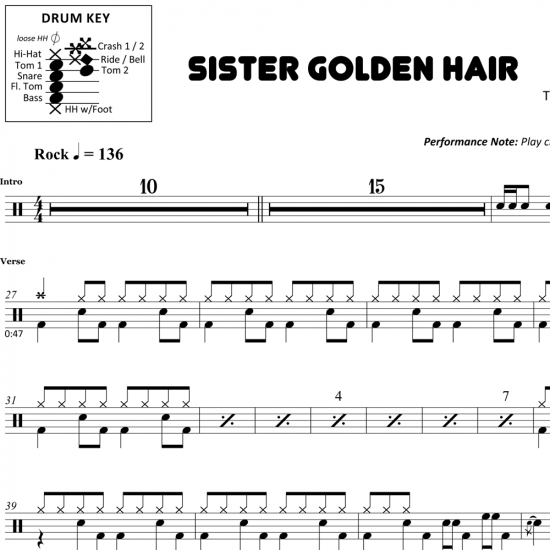 Sister Golden Hair – America