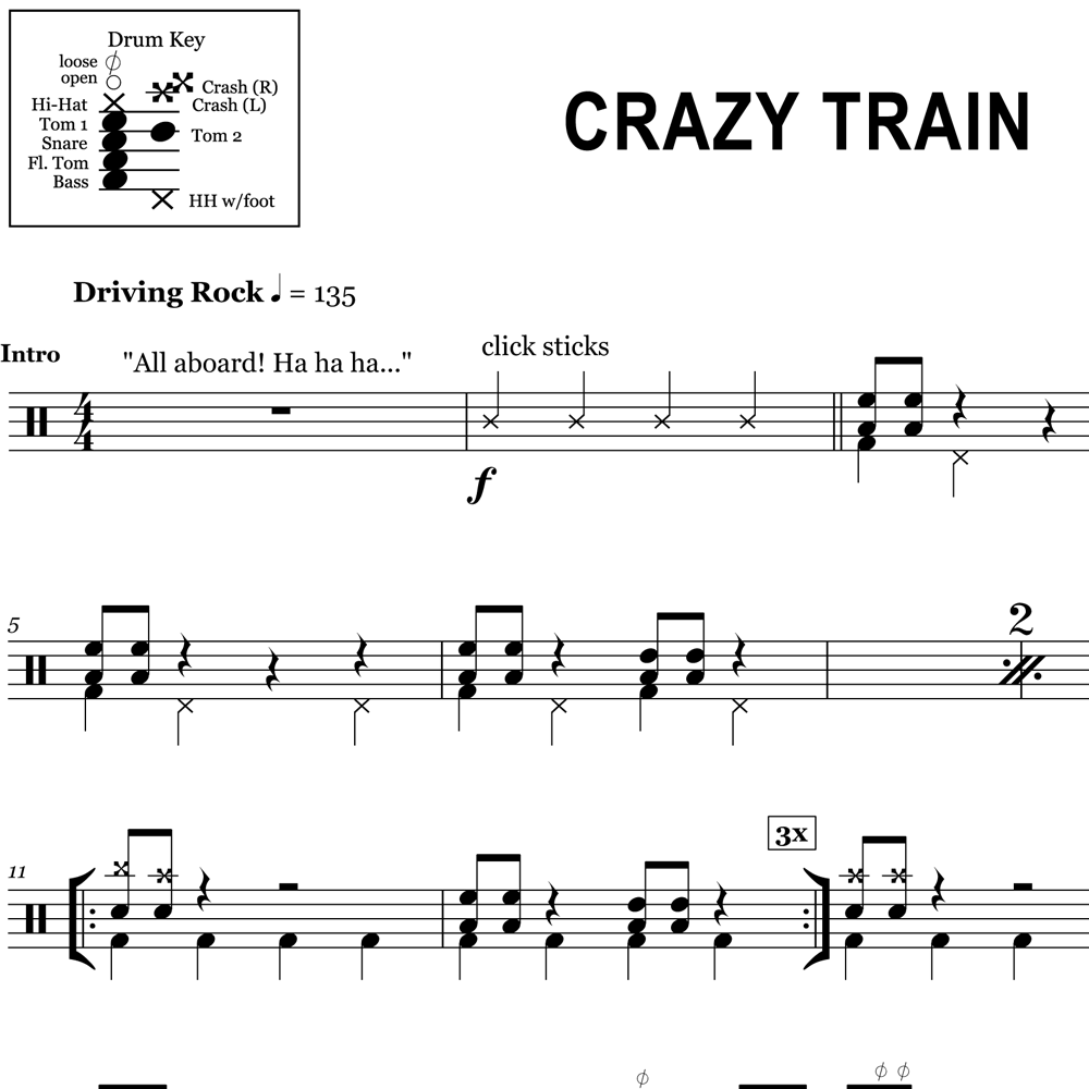 Crazy Train - Ozzy Osbourne