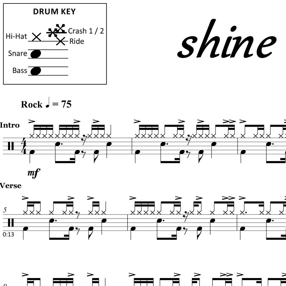 Shine - Collective Soul - Drum Sheet Music