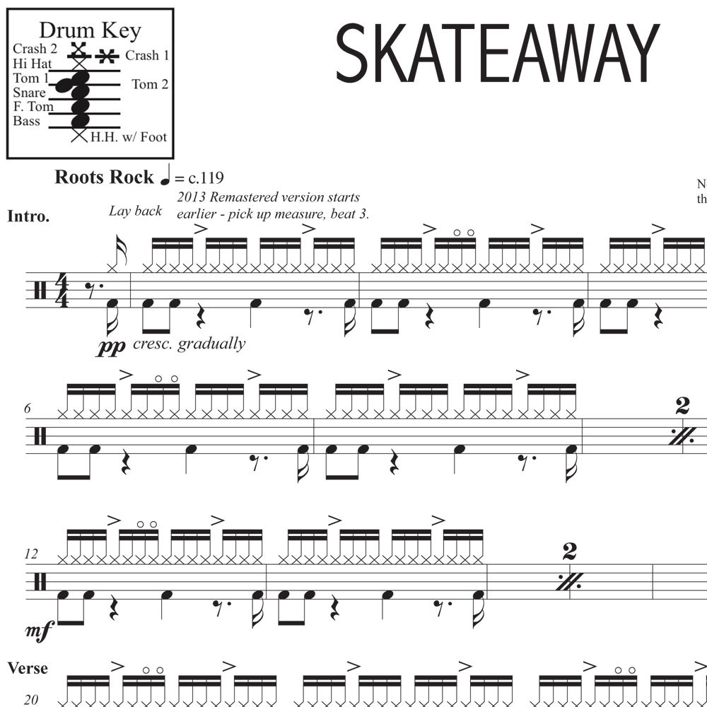 Skateaway - Dire Straits - Drum Sheet Music