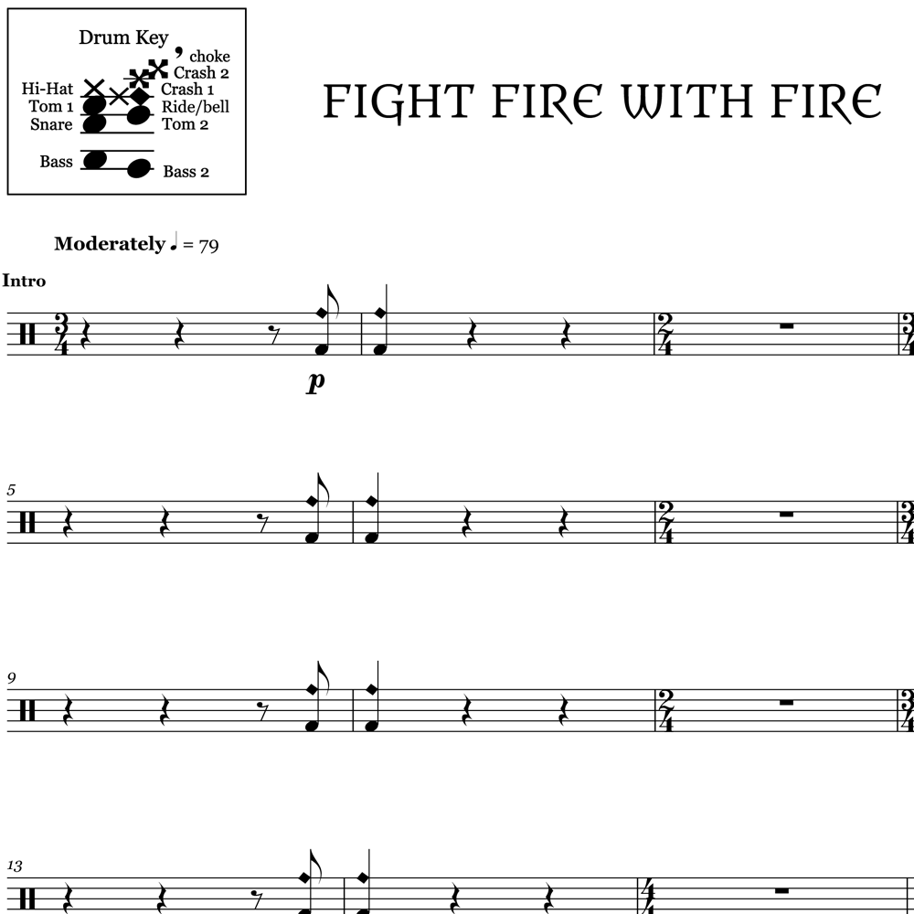 Fight Fire with Fire - Metallica - Thumbnail