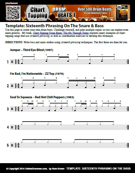 Sixteenth Phrasing - Snare