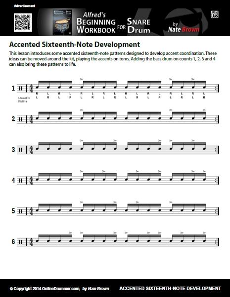 Accented Sixteenth-Note Development - Sheet Music